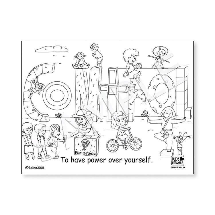 Control Life Skills Coloring Sheet – Kids Love Life Skills