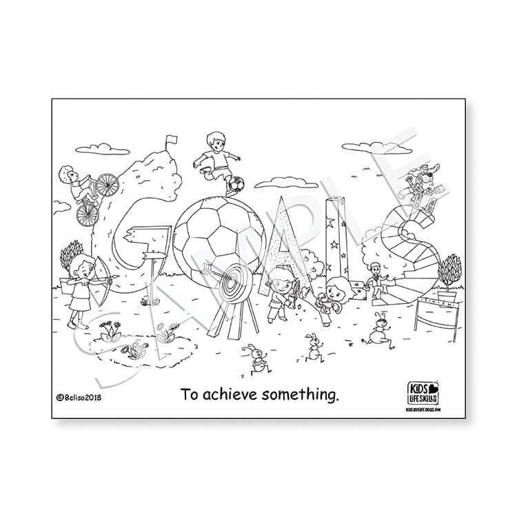 Goals Life Skills Coloring Sheet – Kids Love Life Skills