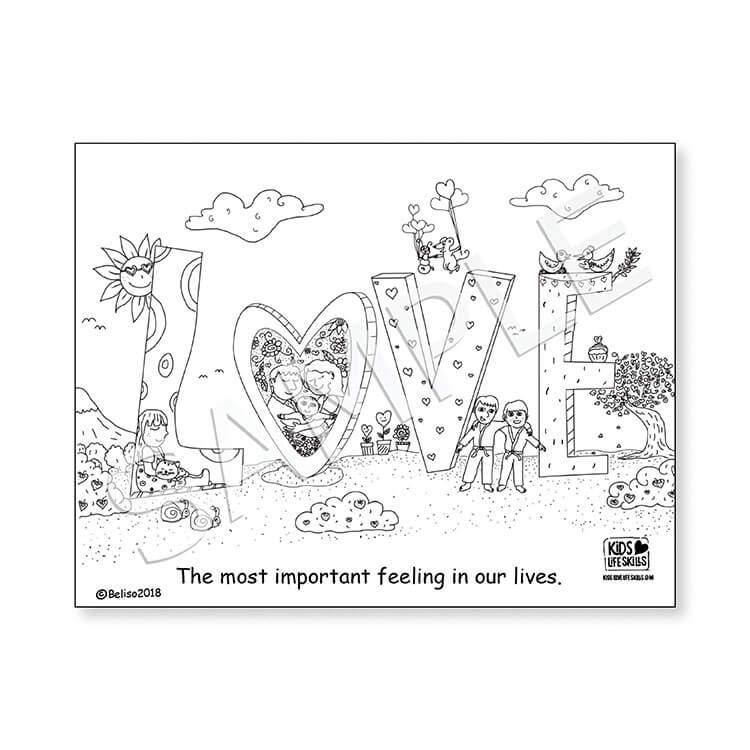 Love Life Skills Coloring Sheet – Kids Love Life Skills