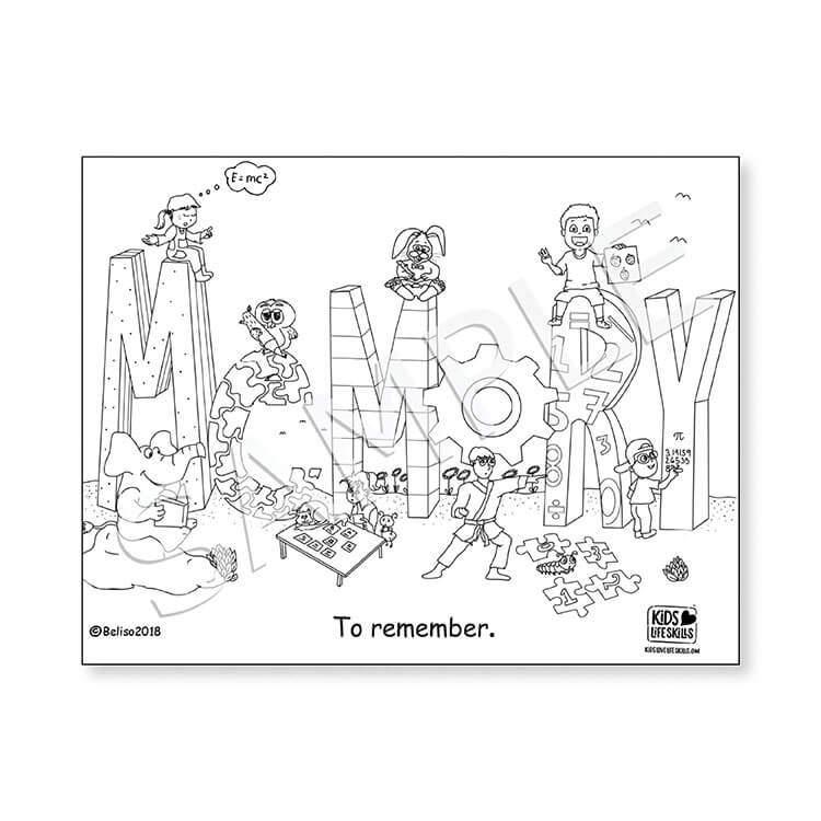 Memory Life Skills Coloring Sheet – Kids Love Life Skills