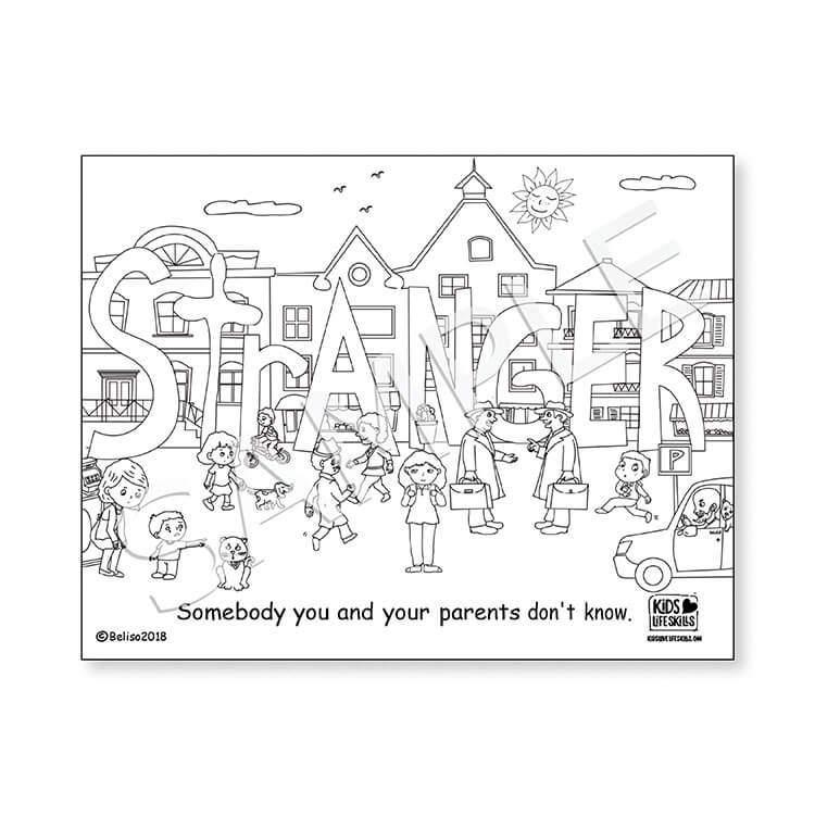 Stranger Life Skills Coloring Sheet – Kids Love Life Skills