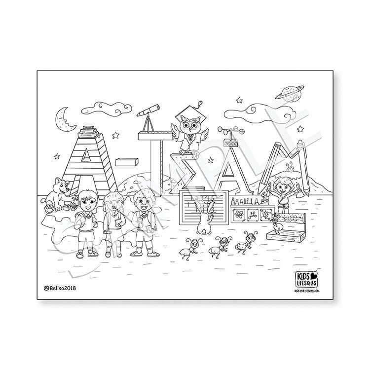 A-Team Life Skills Coloring Sheet – Kids Love Life Skills