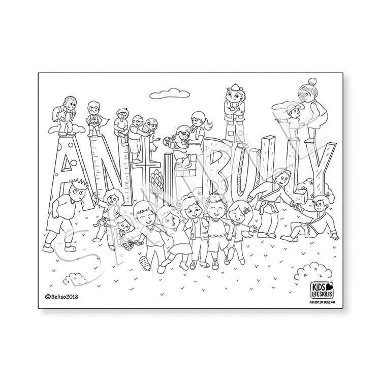 Anti-Bully Life Skills Coloring Sheet – Kids Love Life Skills